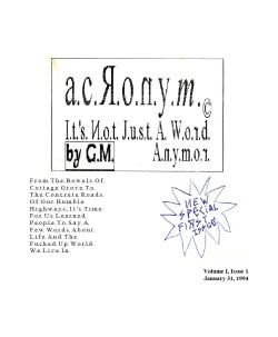 ACRONYM #1
